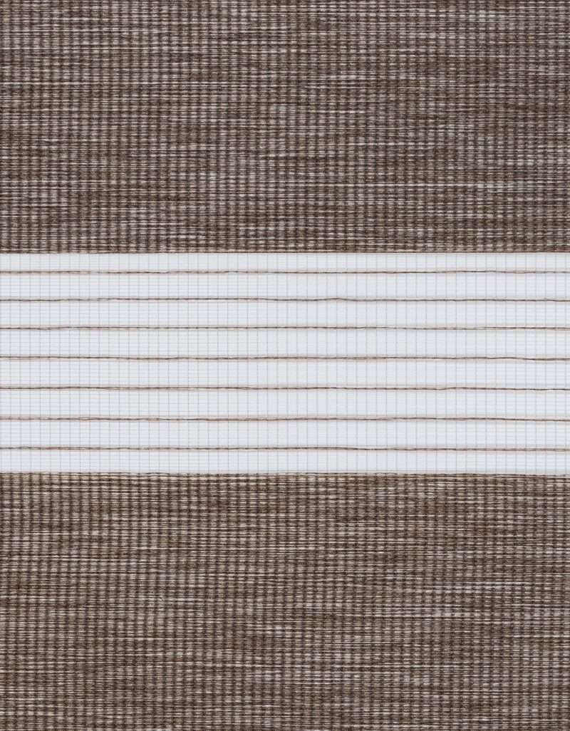 Semi-transparant Duo Rolgordijn Kleurstaal Chocolade