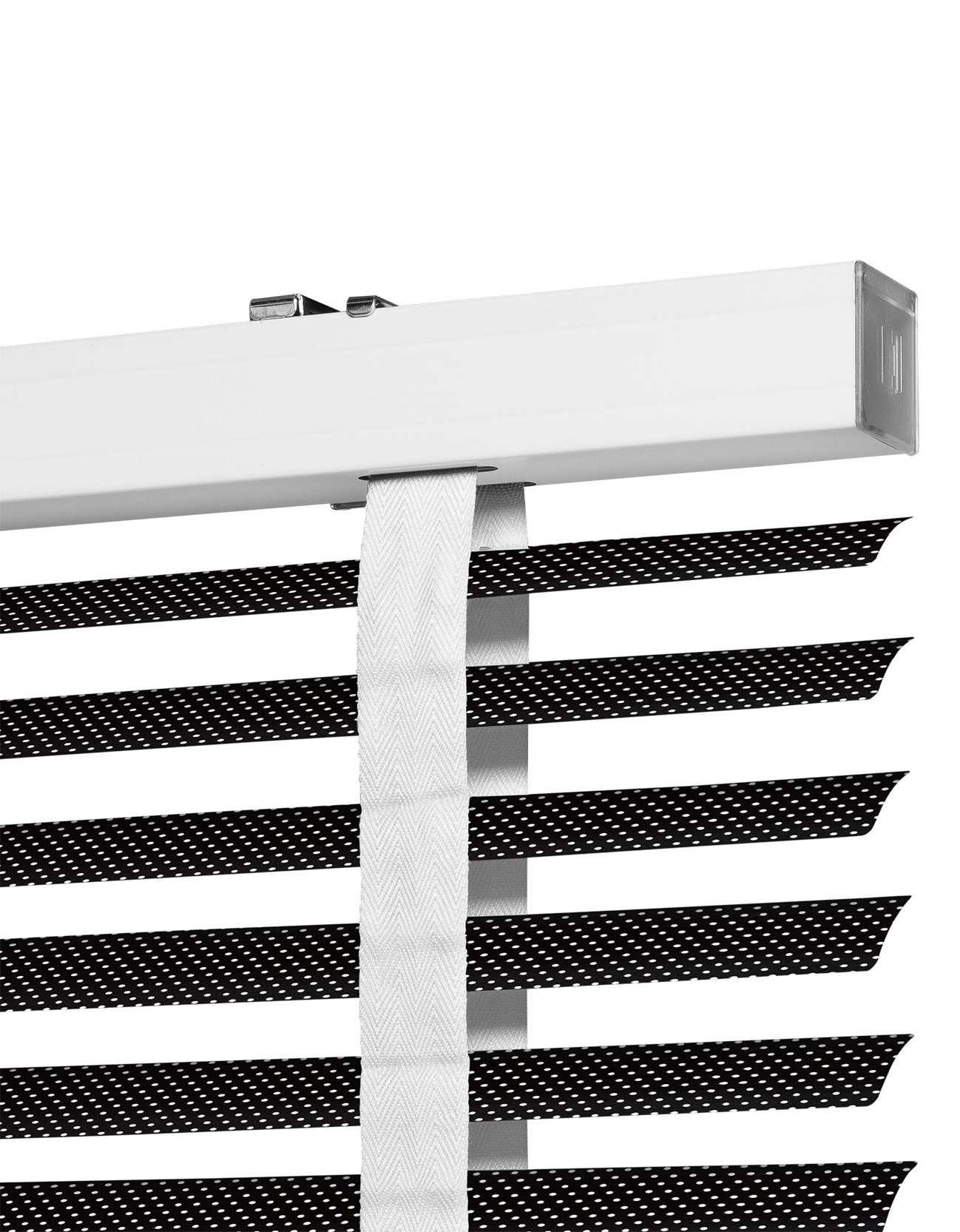 Houtskool Perforation Aluminium Jaloezie 50 mm Uitsnede
