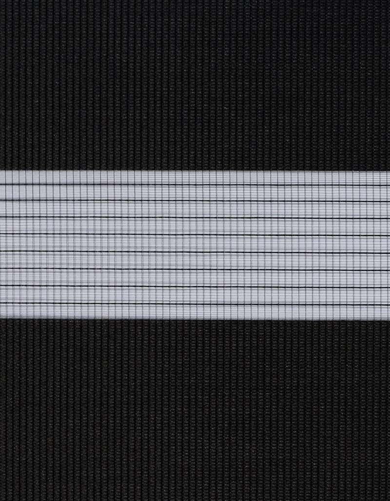 Semi-transparant Duo Rolgordijn Kleurstaal Houtskool