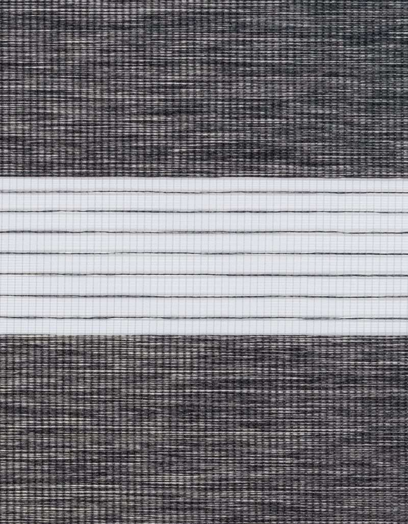 Semi-transparant Duo Rolgordijn Kleurstaal Lei