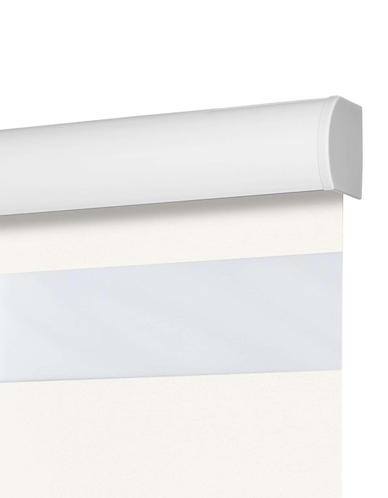 Parel Semi-transparant Duo Rolgordijn Uitsnede